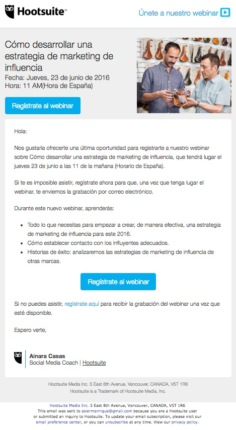email hootsuite