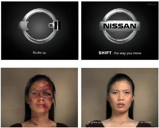 ejemplos de banners creativos: Nissan