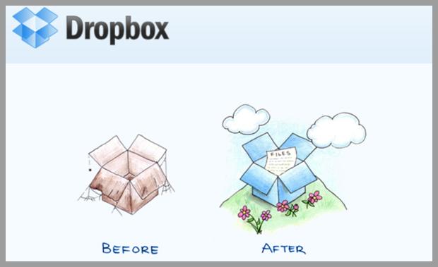 emails originales : DropBox