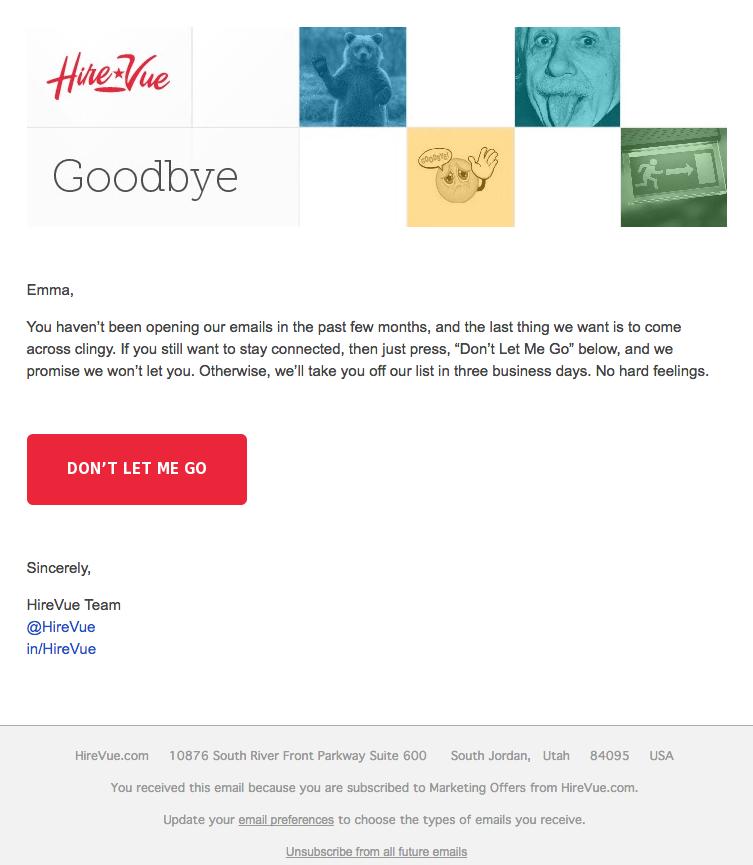 emails originales : HireVue