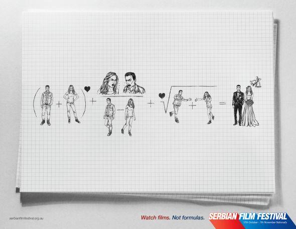 ejemplos de banners creativos: Serbian Film Festival