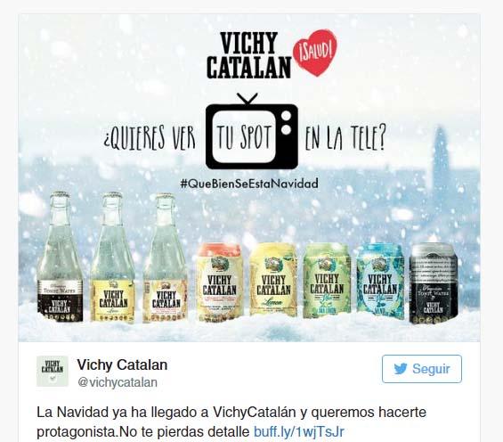 campaña navideña de Vichy Catalan en Twitter
