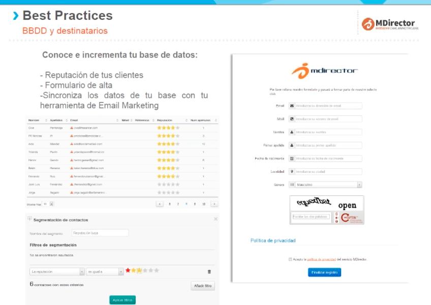 Recomendaciones y buenas prácticas de email y SMS