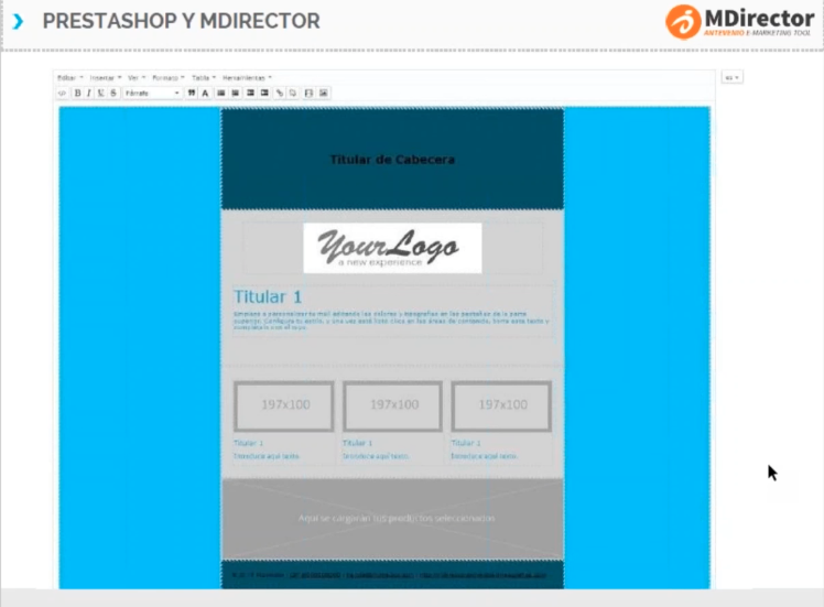Módulo PrestaShop para email y SMS Marketing: Plantillas email