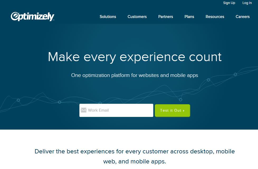 herramientas de gestión de email marketing : Optimizely