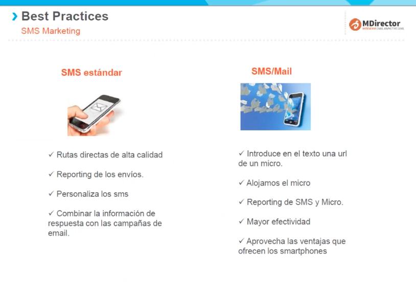 Recomendaciones y buenas prácticas de email y SMS marketing