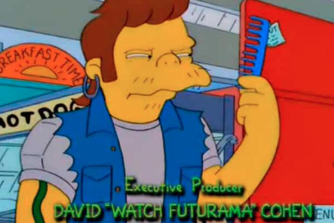 marketing con mensaje subliminal: Los Simpson y Futurama