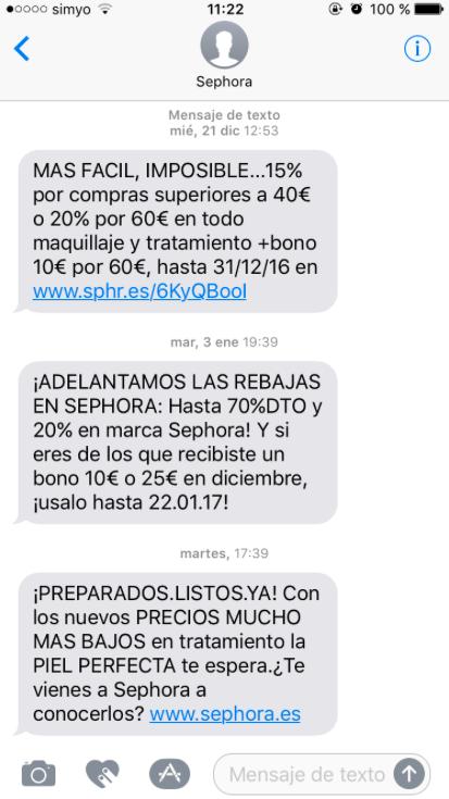 tipos de publicidad online : SMS