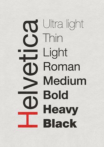 las tipografías más utilizadas en publicidad: Helvética