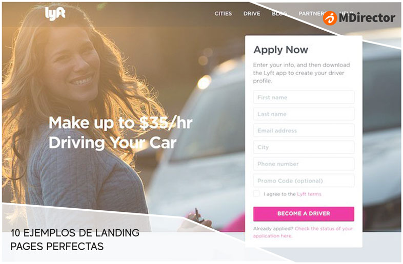 ejemplos de landing pages perfectas