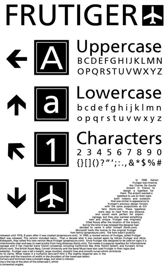 las tipografías más utilizadas en publicidad: Frutiger