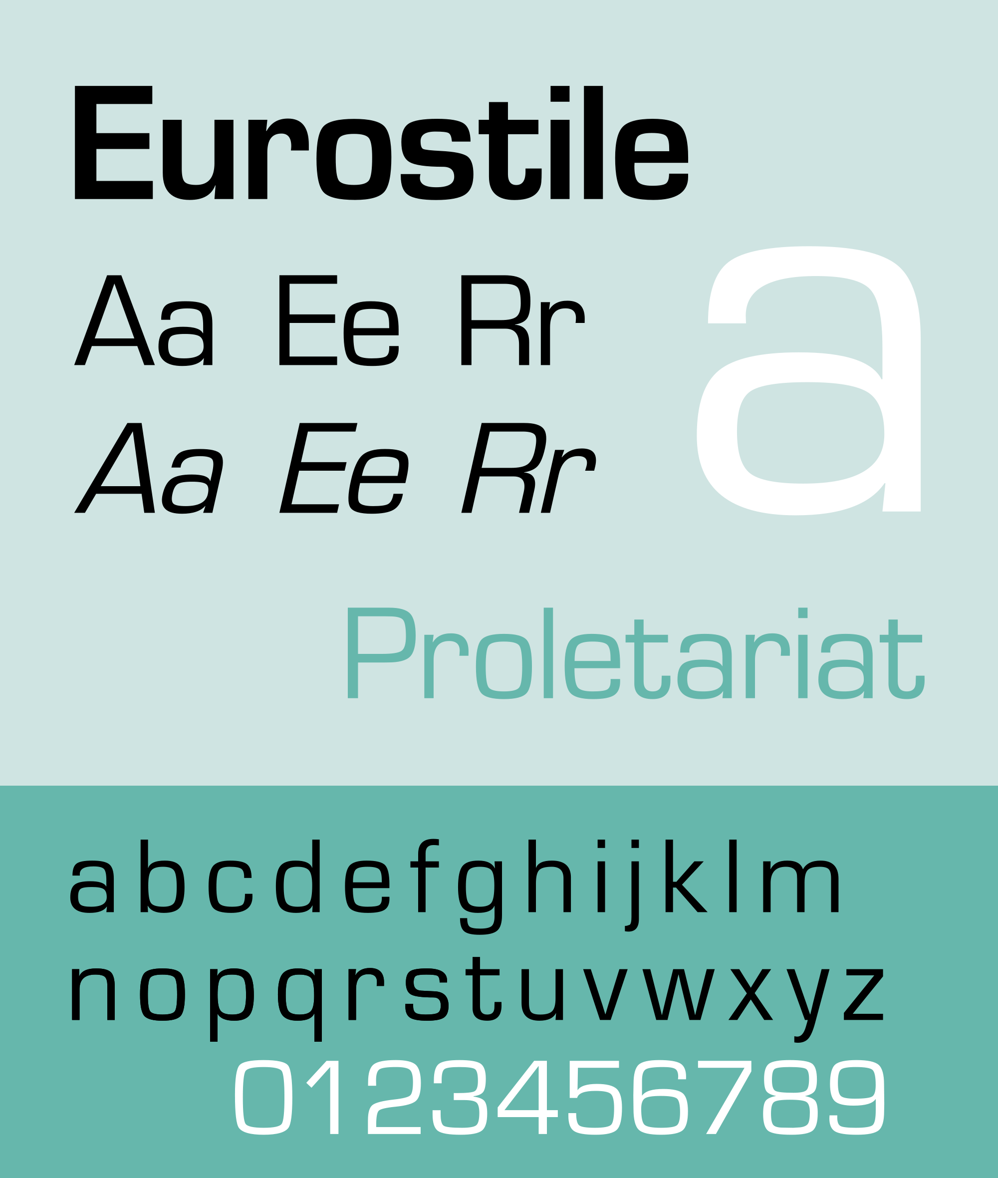 las tipografías más utilizadas en publicidad: Eurostile