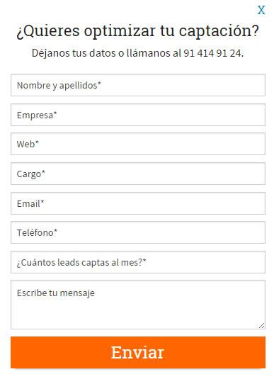 diseño de formularios para captar más suscriptores