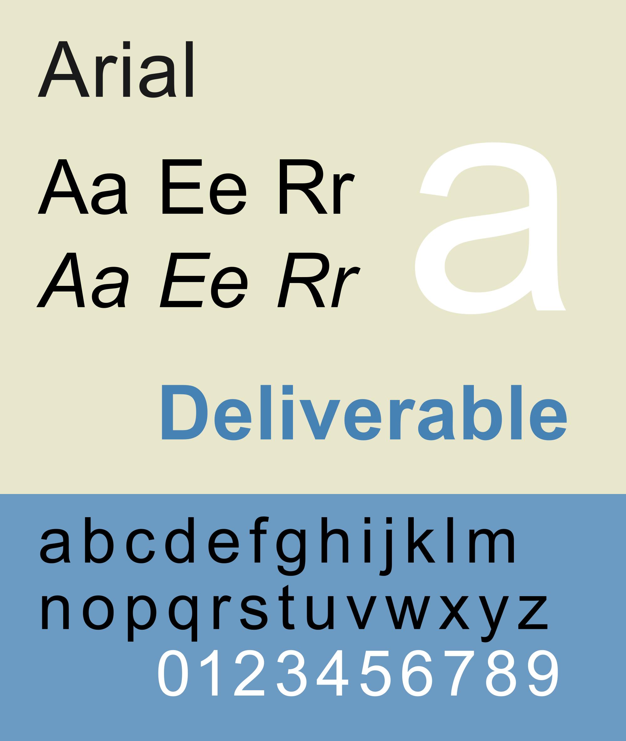 las tipografías más utilizadas en publicidad: Arial