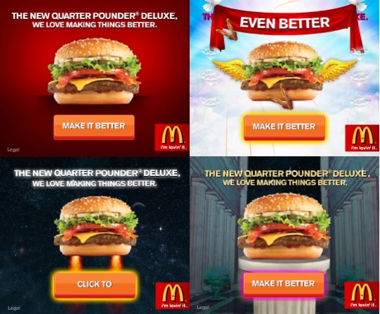 Examples of creative banners: McDonalds