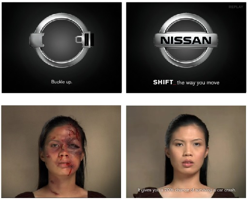 Examples of creative banners: Nissan