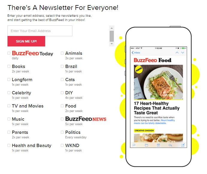 Segmenting Buzzfeed newsletters
