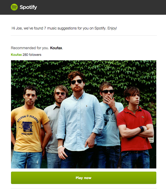 campañas drip Spotify