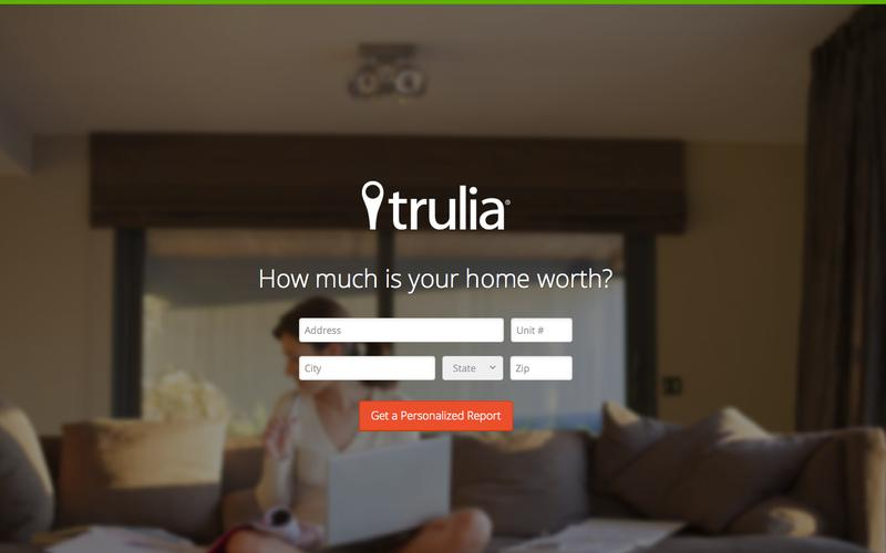 ejemplos de landing pages perfectas: Trulia