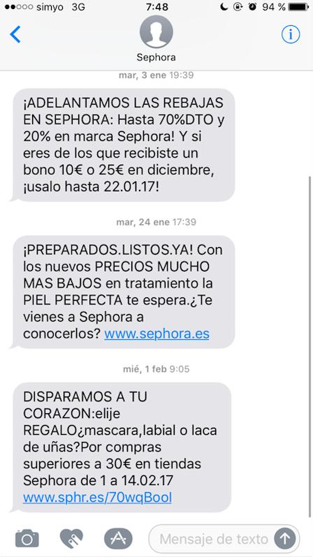 enlace en SMS