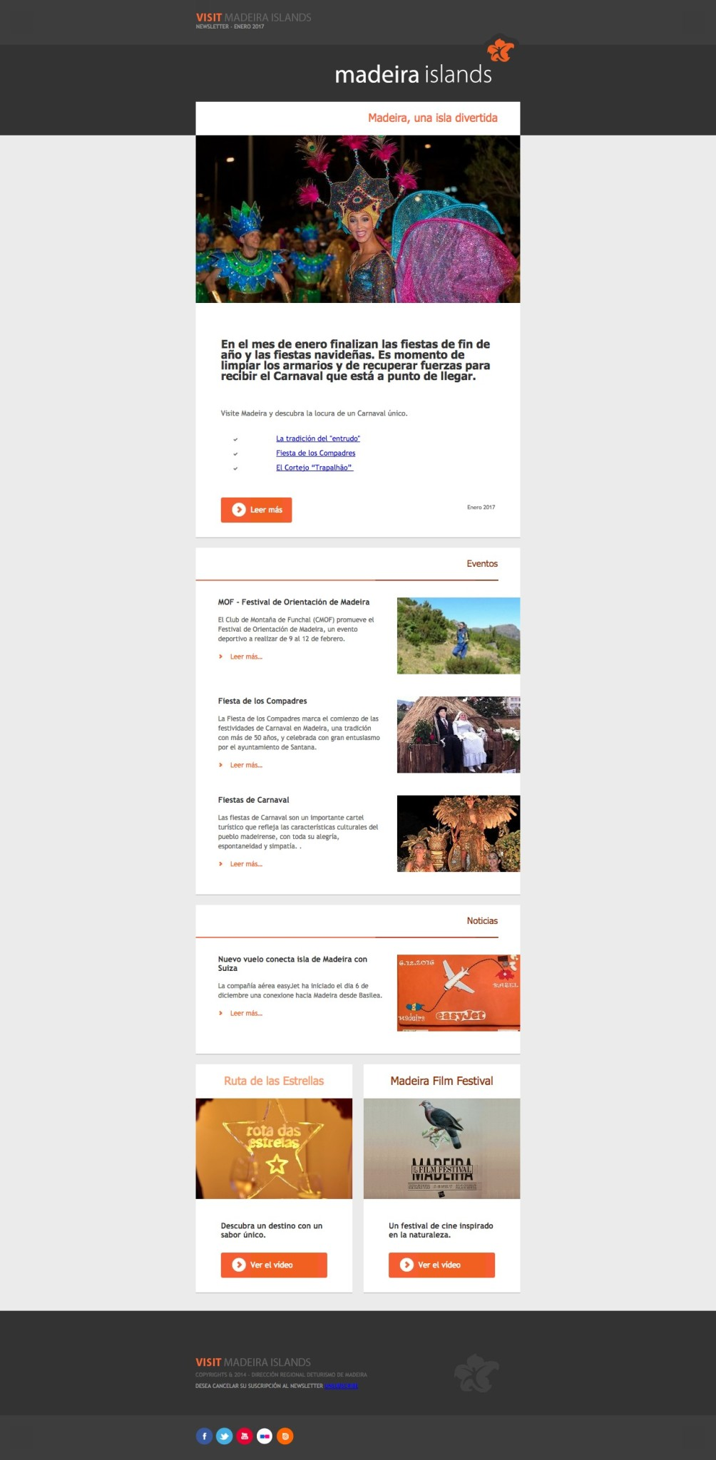 newsletters carnavaleras Madeira