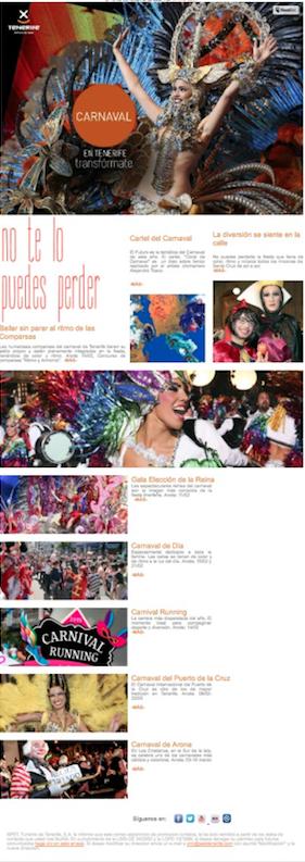 newsletters carnavaleras Tenerife