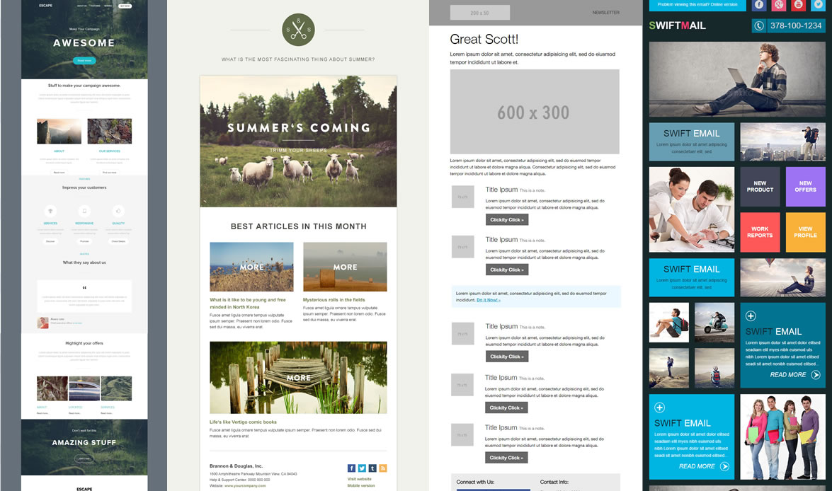 how to create html email newsletter template