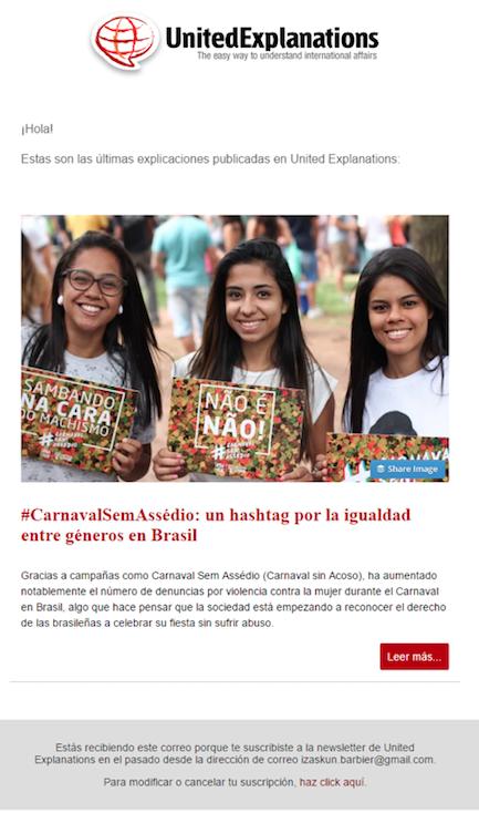 newsletters carnavaleras