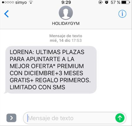 personalización del enlace en SMS