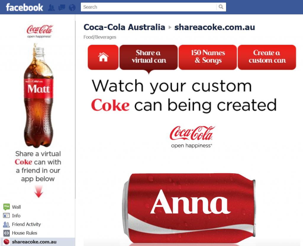contenido visual para redes sociales: Coca Cola