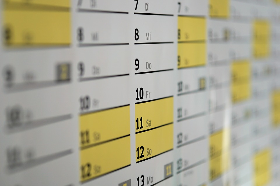 calendario de test A/B para landing pages