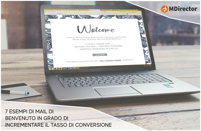 mail di benvenuto in grado di incrementare il tasso di conversione