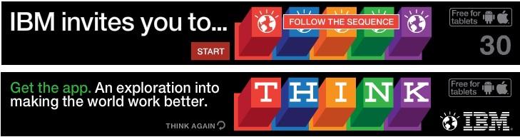 esempi di banners creativi: IBM