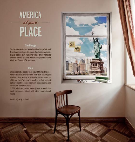 esempi di banners creativi: america adventure