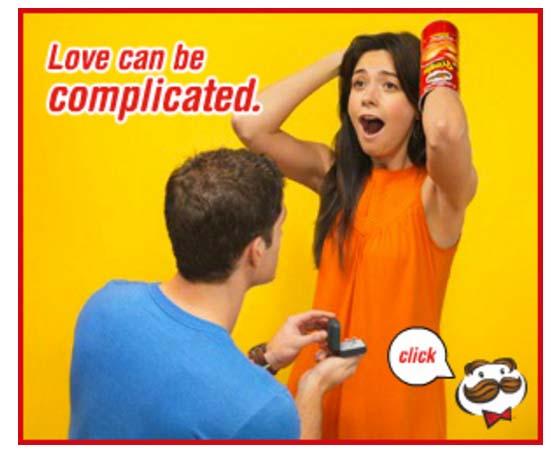 esempi di banners creativi: Pringles