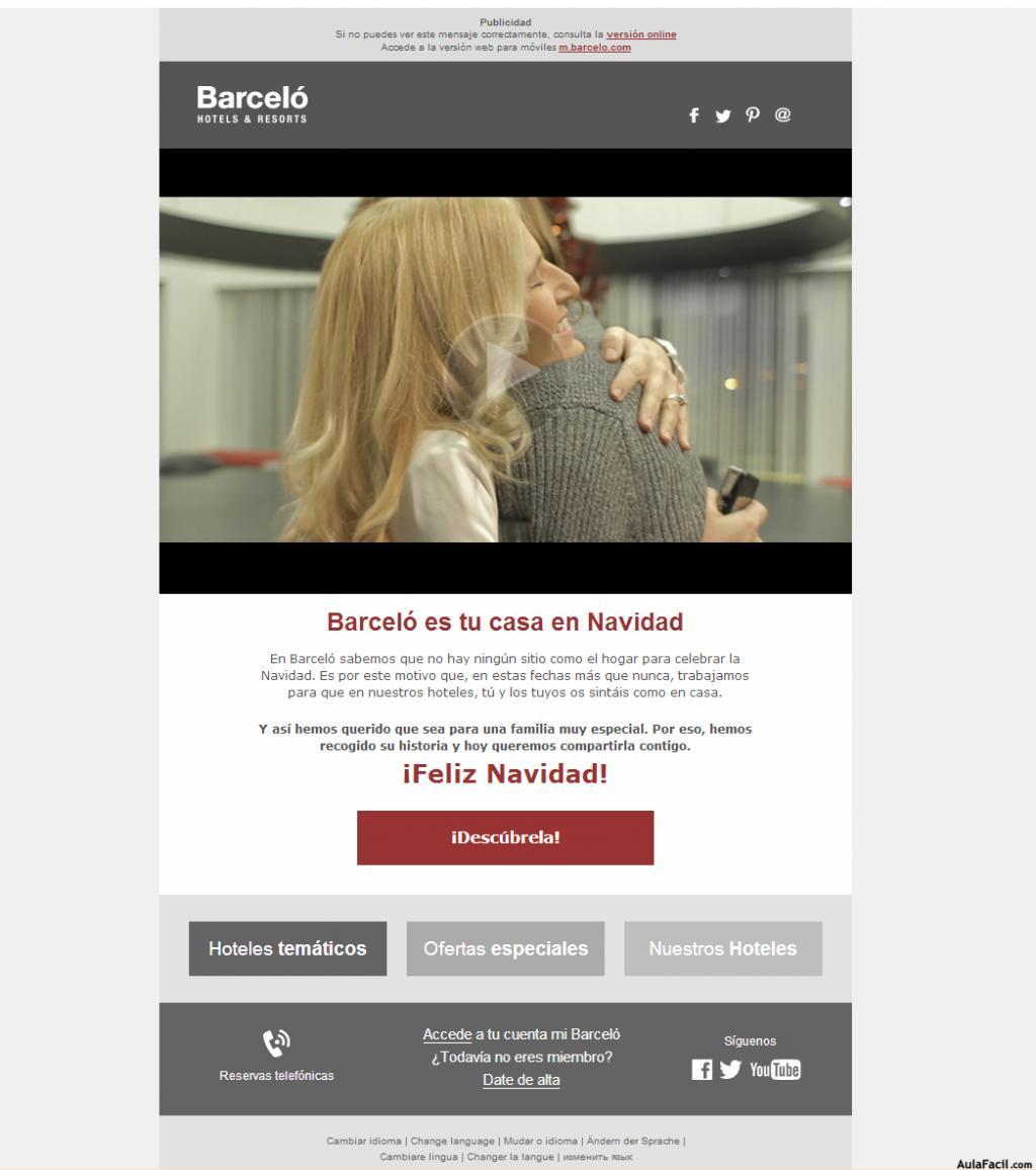 beneficios de incluir vídeos en campañas de email : Barceló