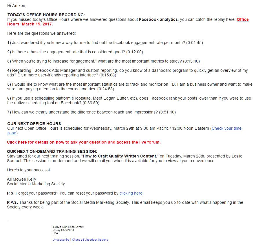 formas de atender a clientes por email