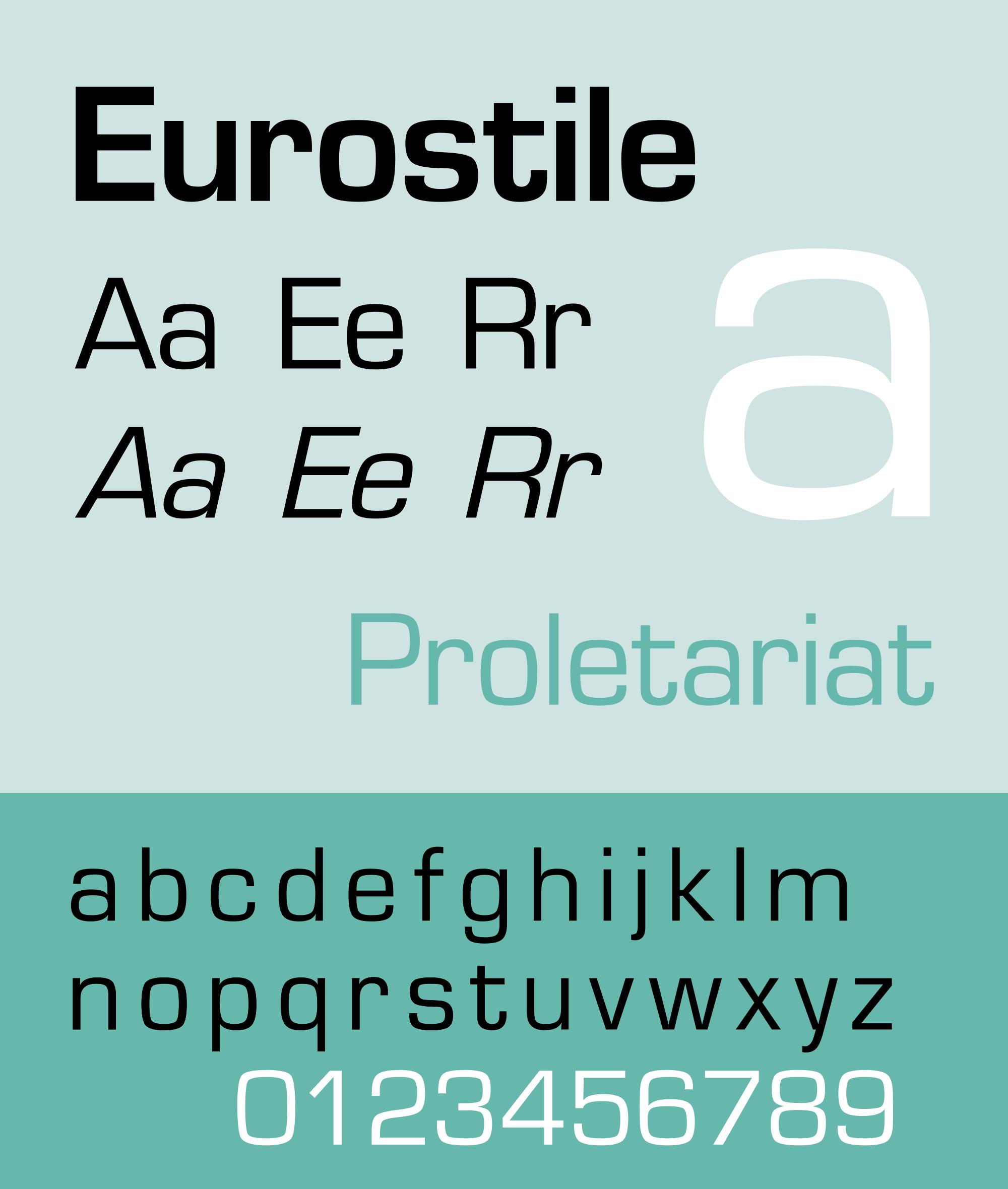 Caratteri tipografici pipù utilizzati in pubblicità: Eurostile