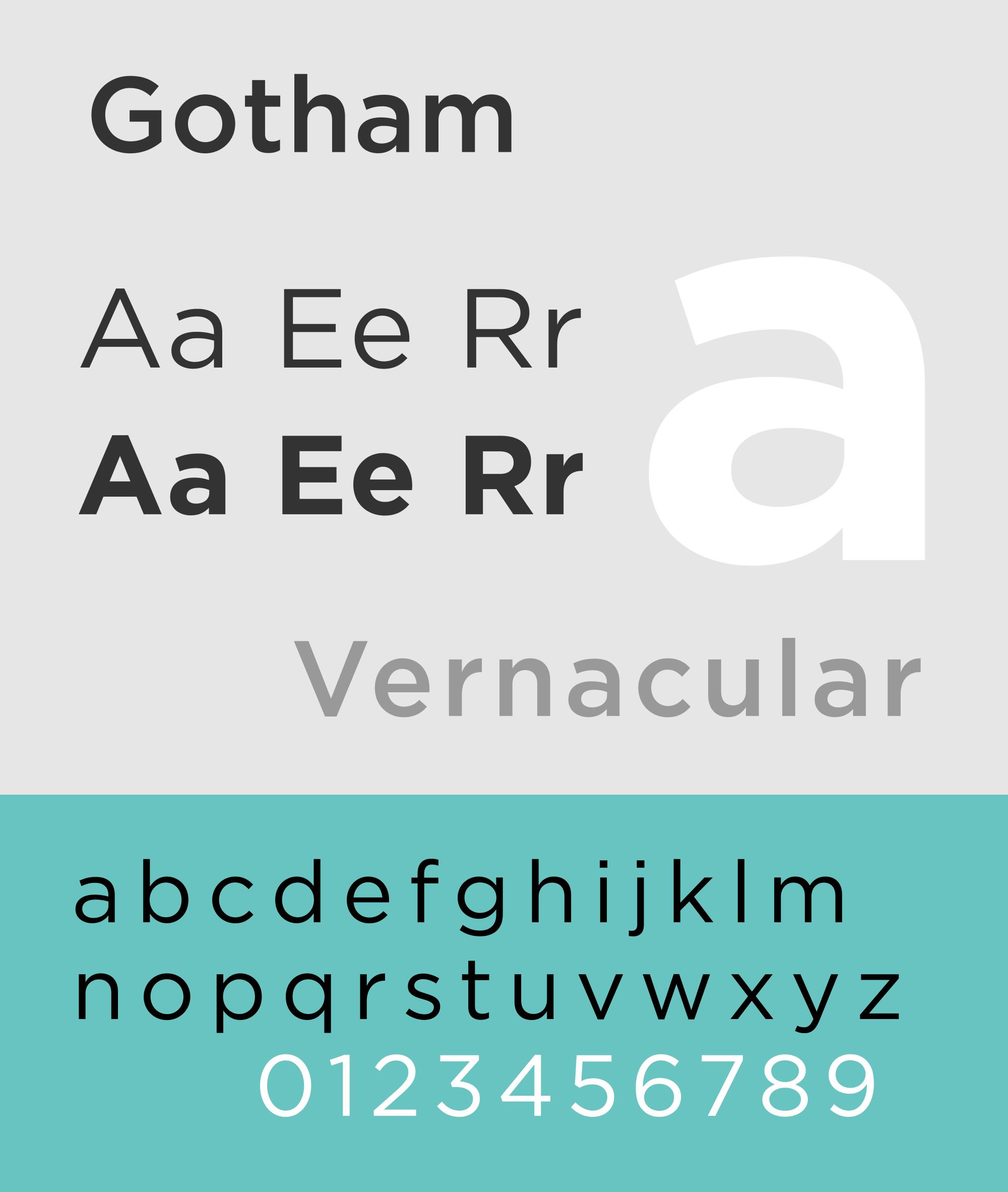 Caratteri tipografici pipù utilizzati in pubblicità: Gotham