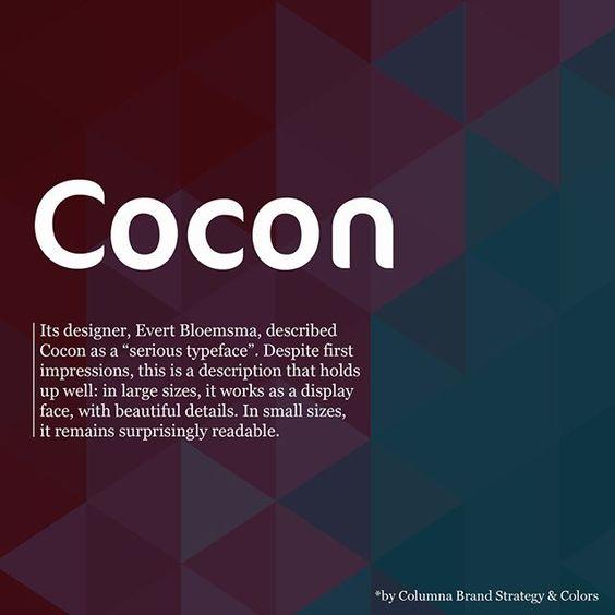 Caratteri tipografici pipù utilizzati in pubblicità: Cocon