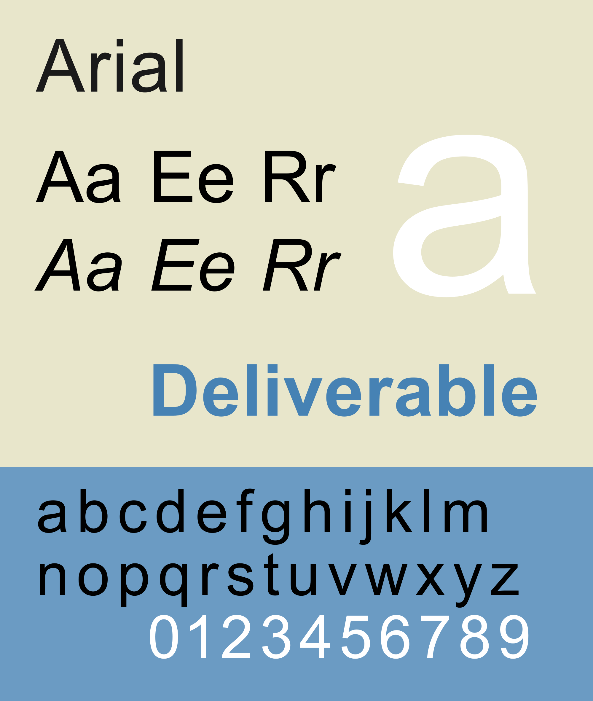 25 most used typefaces in advertising: Arial