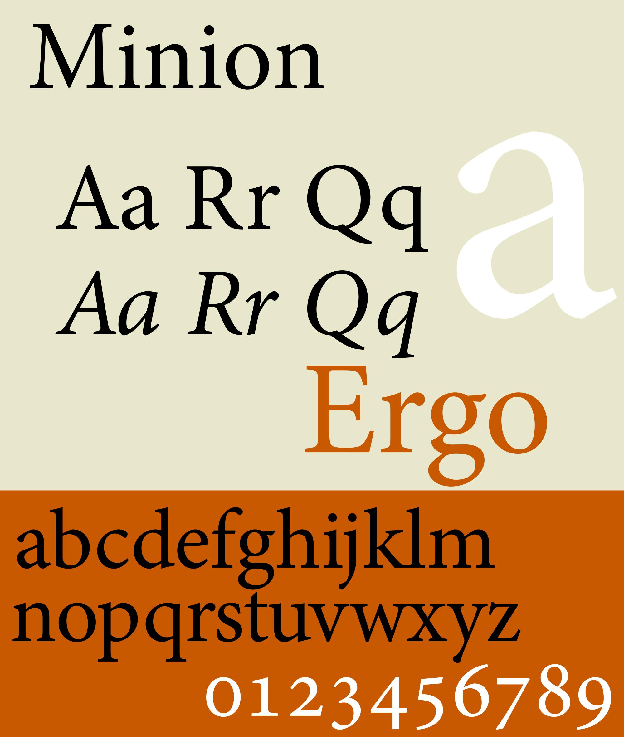 Caratteri tipografici pipù utilizzati in pubblicità: Minion