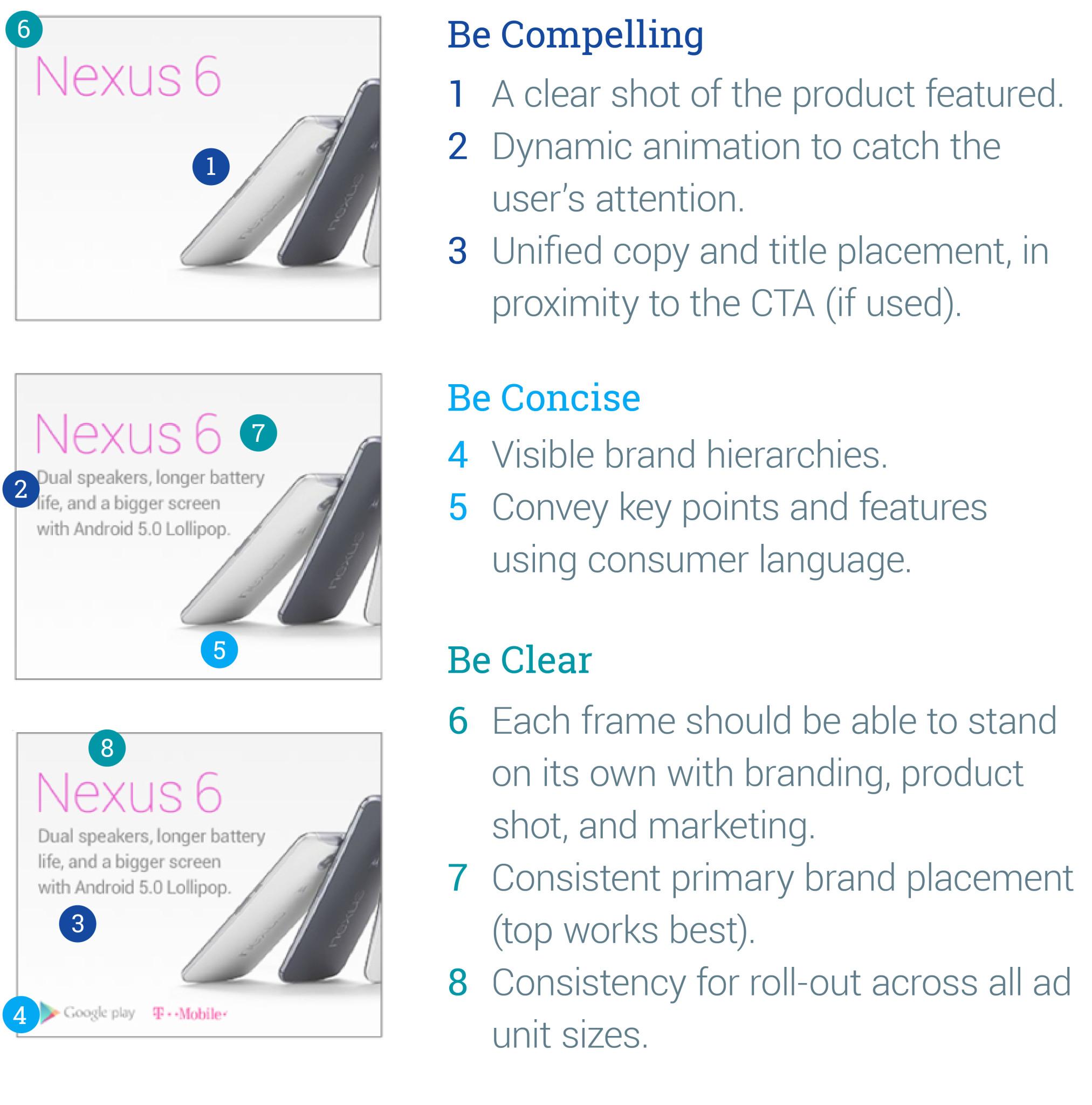 design a good display campaign banner: Google principles