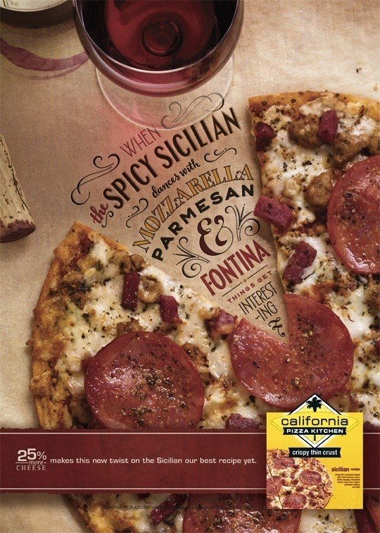 design a good display campaign banner: California Pizza