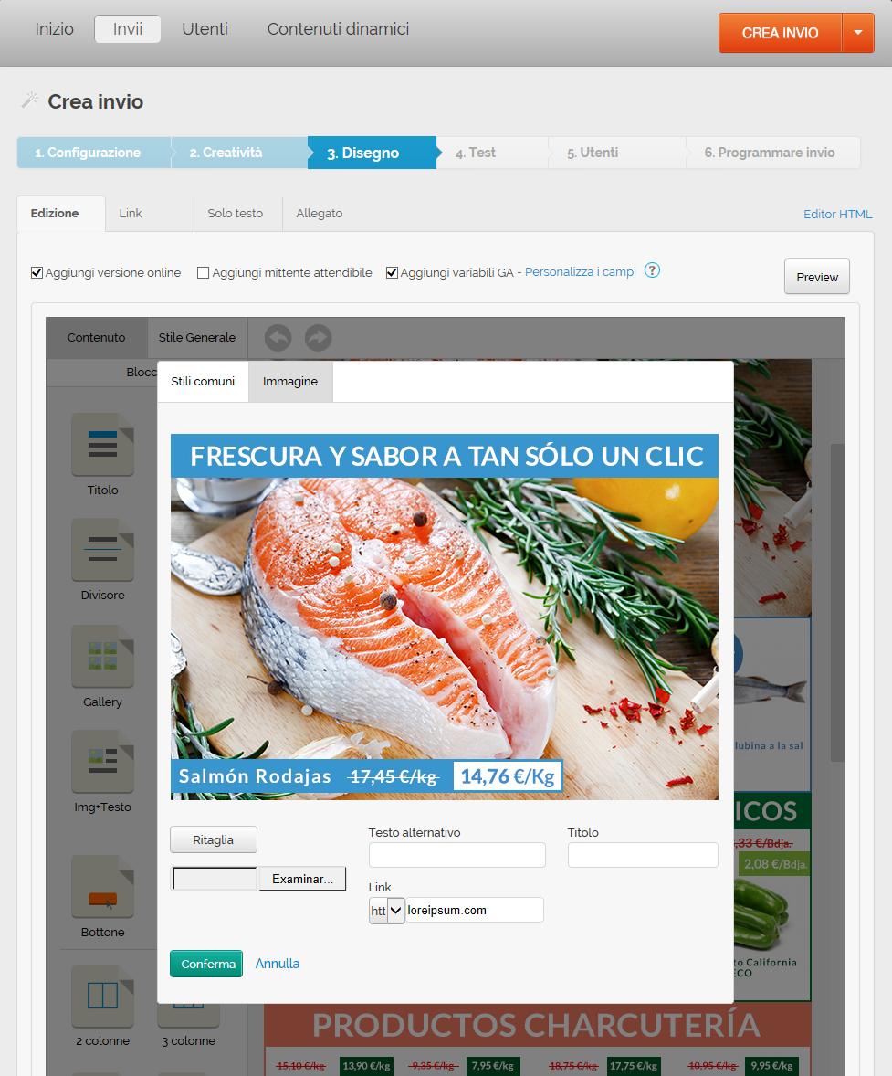 misurare le vendite generate via mail: Disegno link vendite