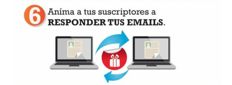 reputación de suscriptores de email marketing. 5.- fomenta las interacciones