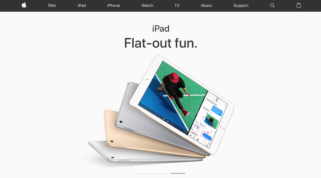 product landing pages: Apple