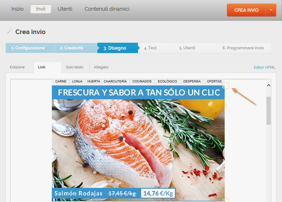 misurare le vendite generate via mail: Link vendite
