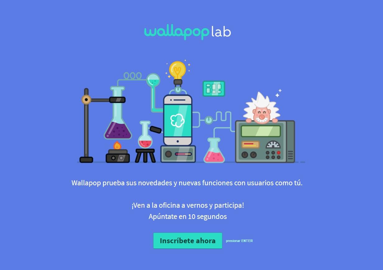 estrategias de comunicación online: landing Wallapop