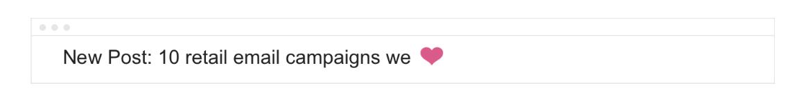 ganar espacio con los emojis